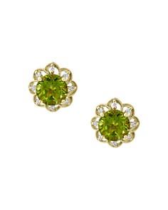 Bloomingdale's Peridot & Diamond Flower Stud Earrings in 14K Yellow Gold - 100% Exclusive _0