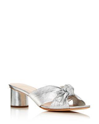 Celeste Knot Mid Heel Slide Sandals