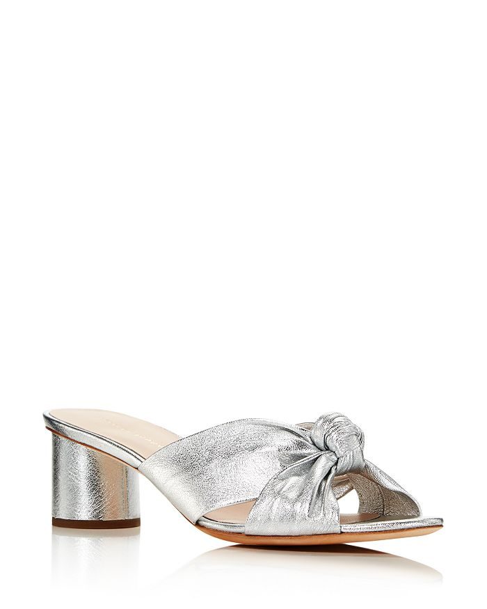 Loeffler Randall - Women's Celeste Knot Mid Heel Slide Sandals