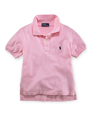 Polo Ralph Lauren Boys Solid Mesh Polo Shirt  Little Kid
