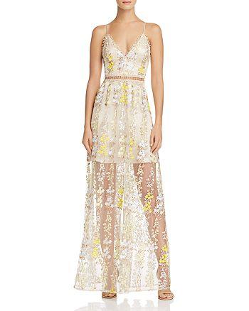 858f8f36d447 AQUA - Beaded Embroidered Maxi Dress - 100% Exclusive