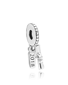 PANDORA Sterling Silver Graduation Scroll Drop Charm, Moments Collection - Bloomingdale's_0