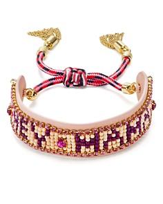 Rebecca Minkoff - Beaded Fringe Cuff Bracelet