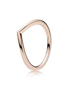 PANDORA Rose Gold-Tone Sterling Silver Shining Wish Ring - Bloomingdale's_0