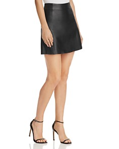 Veda - Leather Circle Skirt