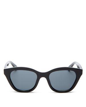 LE SPECS Women'S Wannabae Cat Eye Sunglasses, 49Mm, Black/Smoke