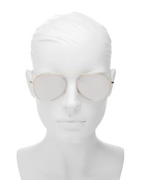 Illesteva - Women's Dorchester Mirrored Brow Bar Aviator Sunglasses, 55mm