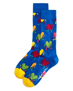 Happy Socks Keith Haring Running Heart Socks - Bloomingdale's_0