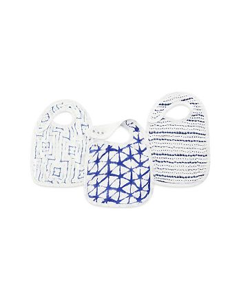 Aden and Anais - Indigo Shibori Silky Soft Snap Bibs, 3 Pack