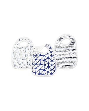 Aden and Anais Indigo Shibori Silky Soft Snap Bibs, 3 Pack
