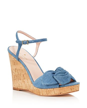 kate spade new york - Women's Janae Chambray Platform Wedge Sandals