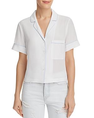 Frame Piped Silk Pajama Shirt - 100% Exclusive