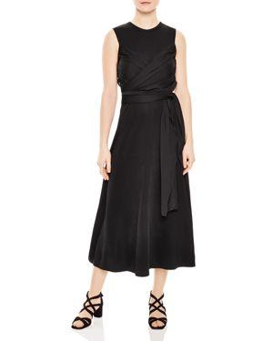 Trudy Ruched Midi Dress, Black