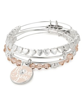 Alex and Ani - I Love You Expandable Wire Bangles, Set of 3