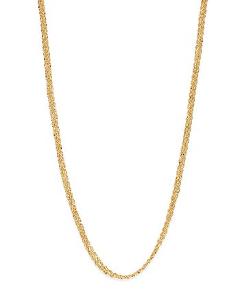 """Bloomingdale's - Thick Woven Chain Necklace in 14K Yellow Gold, 18"""" - 100% Exclusive"""