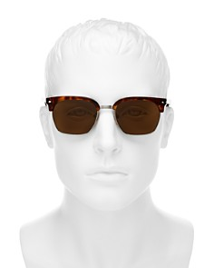 Persol - Men's Low Base Polarized Square Sunglasses, 53mm
