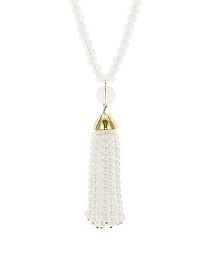 Aqua Lucite Tassle Pendant Necklace, 32 - 100% Exclusive