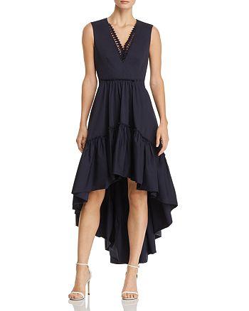 Elie Tahari - Sondra High/Low-Hem Dress