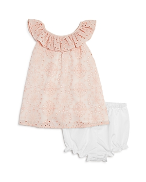 Pippa  Julie Girls Ruffled Eyelet Shift Dress  Bloomers Set  Baby
