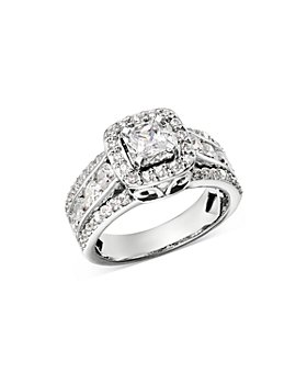 Bloomingdale's - Diamond Princess-Cut Engagement Ring in 14K White Gold, 2.0 ct. t.w. - 100% Exclusive