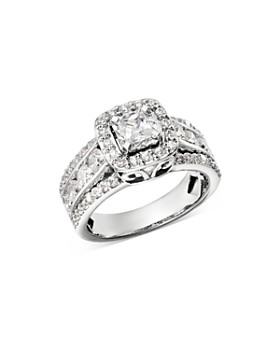 Bloomingdale's - Diamond Square Halo Engagement Ring in 14K White Gold, 2.0 ct. t.w. - 100% Exclusive