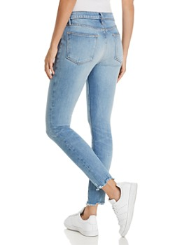 FRAME - Le High Skinny Raw-Edge Jeans in Sand Dollar