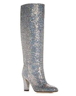 SJP by Sarah Jessica Parker - Women's Studio Glitter Pointed Toe High-Heel Boots