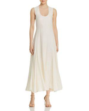 Lenox Linen And Silk-Blend Dress, Alabaster