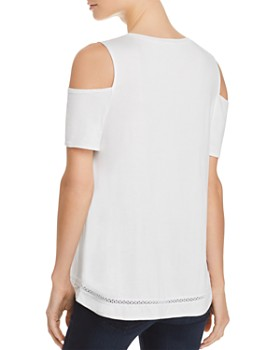 Lyssé - Mira Embroidered Cold-Shoulder Top