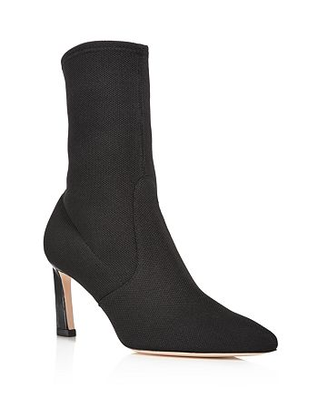 Stuart Weitzman - Rapture Mid Calf Stretch Sock Booties