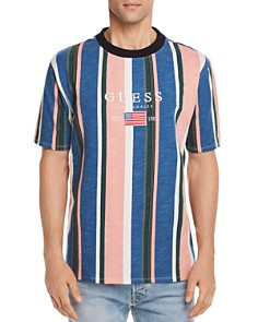 GUESS Logo Striped Crewneck Tee - Bloomingdale's_0