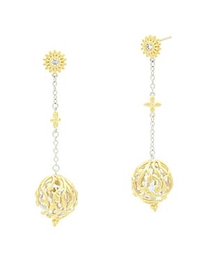 Freida Rothman Fleur Bloom Linear Ball Drop Earrings-Jewelry & Accessories