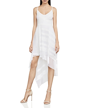 Bcbgmaxazria Dae Asymmetric Mesh & Lace Dress