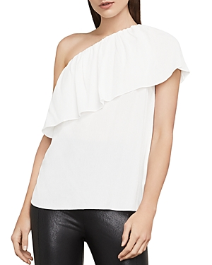 Bcbgmaxazria Kamila Ruffled One-Shoulder Top