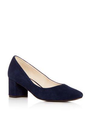 Cole Haan Women's Justine Suede Block Heel Pumps 2959806