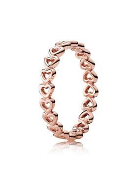 PANDORA - Rose-Tone Sterling Silver Linked Love Ring