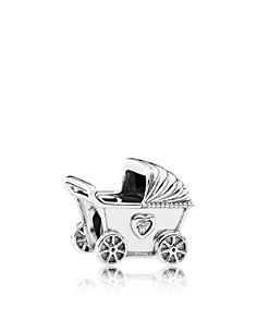 PANDORA Sterling Silver & Cubic Zirconia Baby's Pram Charm - Bloomingdale's_0