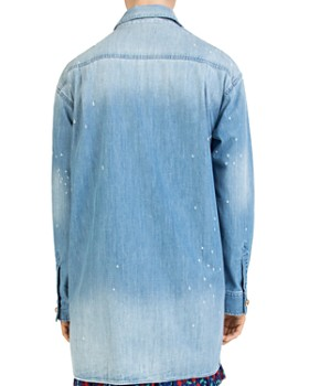 The Kooples - Distressed Denim Overshirt