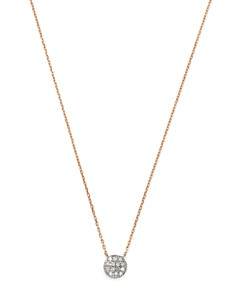 Moon & Meadow - Diamond Circle Pendant Necklace in 14K White & Rose Gold, 0.04 ct. t.w. - 100% Exclusive