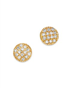 Moon & Meadow - Diamond Circle Stud Earrings in 14K Yellow Gold, 0.08 ct. t.w. - 100% Exclusive