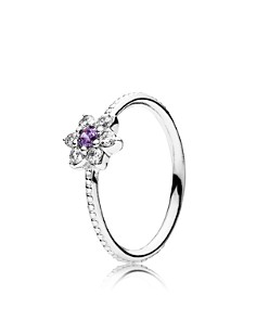 PANDORA Sterling Silver & Cubic Zirconia Forget Me Not Statement Ring - Bloomingdale's_0