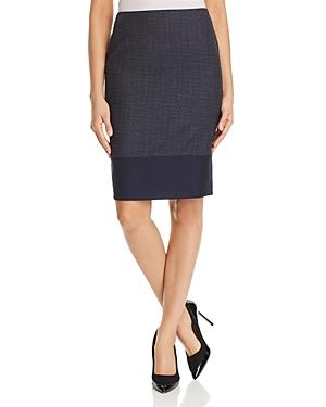 Boss Vibena Color Block Pencil Skirt