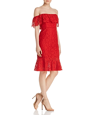 Bcbgmaxazria Off-the-Shoulder Lace Dress