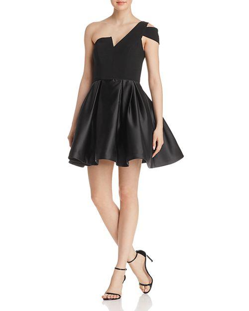 AQUA - One-Shoulder Mini Dress - 100% Exclusive