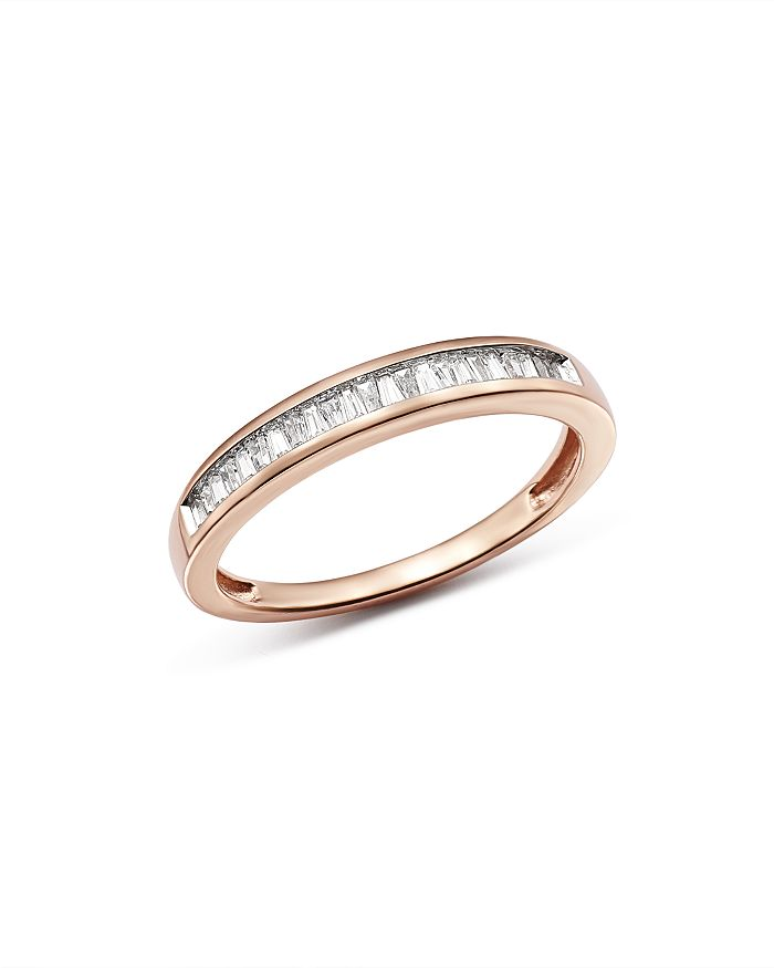 Bloomingdale's - Diamond Tapered Baguette Channel Band in 14K Rose Gold, 0.15 ct. t.w. - 100% Exclusive