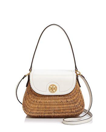 855fc25fb72 Tory Burch - Lacquered Rattan Basket Crossbody