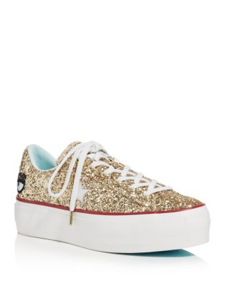 410c54a63092 Converse Women s One Star Platform x Chiara Ferragni Glitter Sneakers