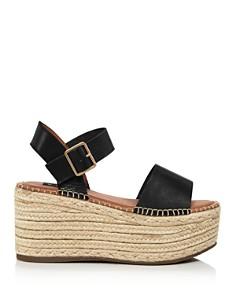 AQUA - Women's Rowan Leather Espadrille Platform Sandals - 100% Exclusive