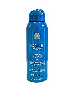 SOLEIL TOUJOURS - Organic Sheer SPF 30 Sunscreen Mist