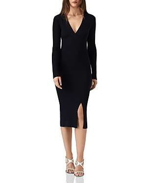 Reiss Amara Ribbed Sweater Dress